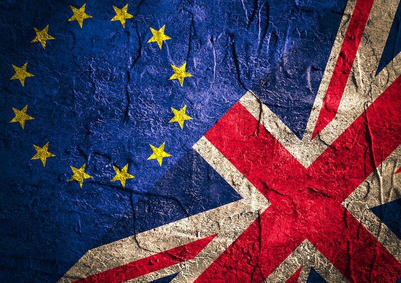 British flag & EU flag